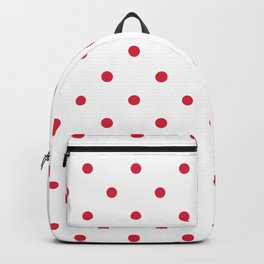 Polka Dots Pattern: Red Backpack