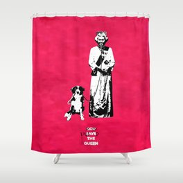 Dog Enslaved the Queen Shower Curtain