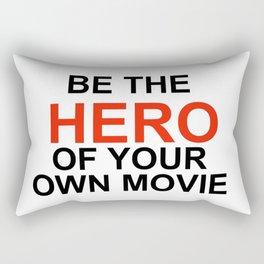 """Be the Hero of your own movie"" Joe Rogan Rectangular Pillow"