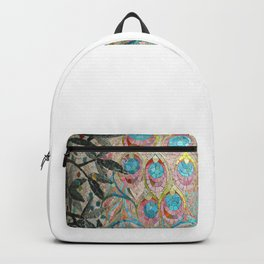 Peacock Pattern Mosaic art Backpack