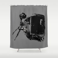 charlie Shower Curtains featuring Charlie by Micah Lee