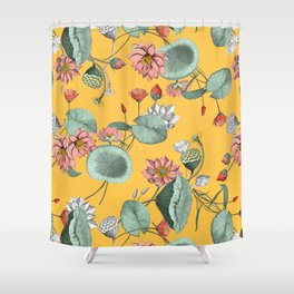 Water lilies florals Shower Curtain