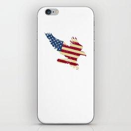 American Flag USA Pride Attacking Eagle Patriot iPhone Skin