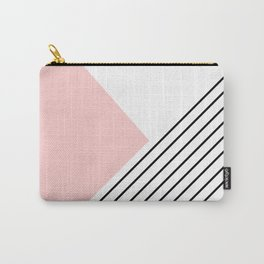 Pink angles and stripes Carry-All Pouch