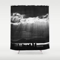 skyline Shower Curtains featuring Skyline by ArtBite