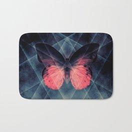 Beautiful Symmetry Butterfly Bath Mat