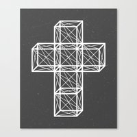 cross Canvas Prints featuring Cross by Dizzy Moments