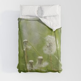 Three-Quarters of a Wish Left painterly Comforters