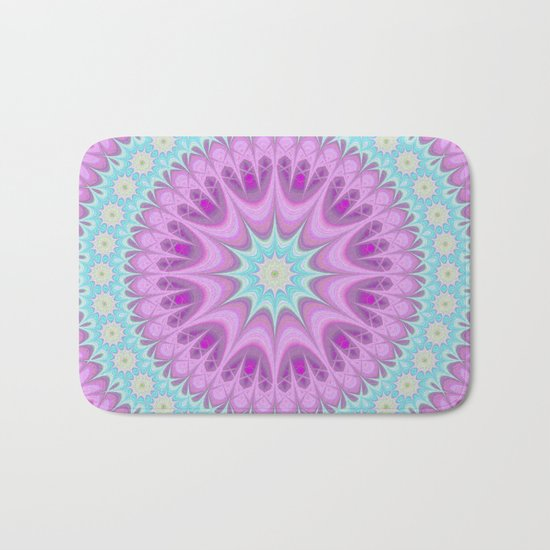 Girly mandala Bath Mat