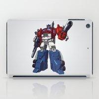 optimus prime iPad Cases featuring Optimus by CromMorc