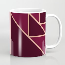 Art Deco Pattern Gold Burgundy Coffee Mug