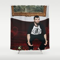 kevin russ Shower Curtains featuring Kevin by moriahaslan