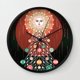 Christmas Tree by ©2018 Balbusso Twins Wall Clock