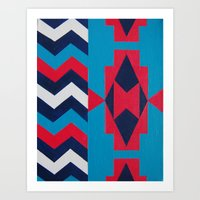 navajo Art Prints featuring Navajo by RamonaRode