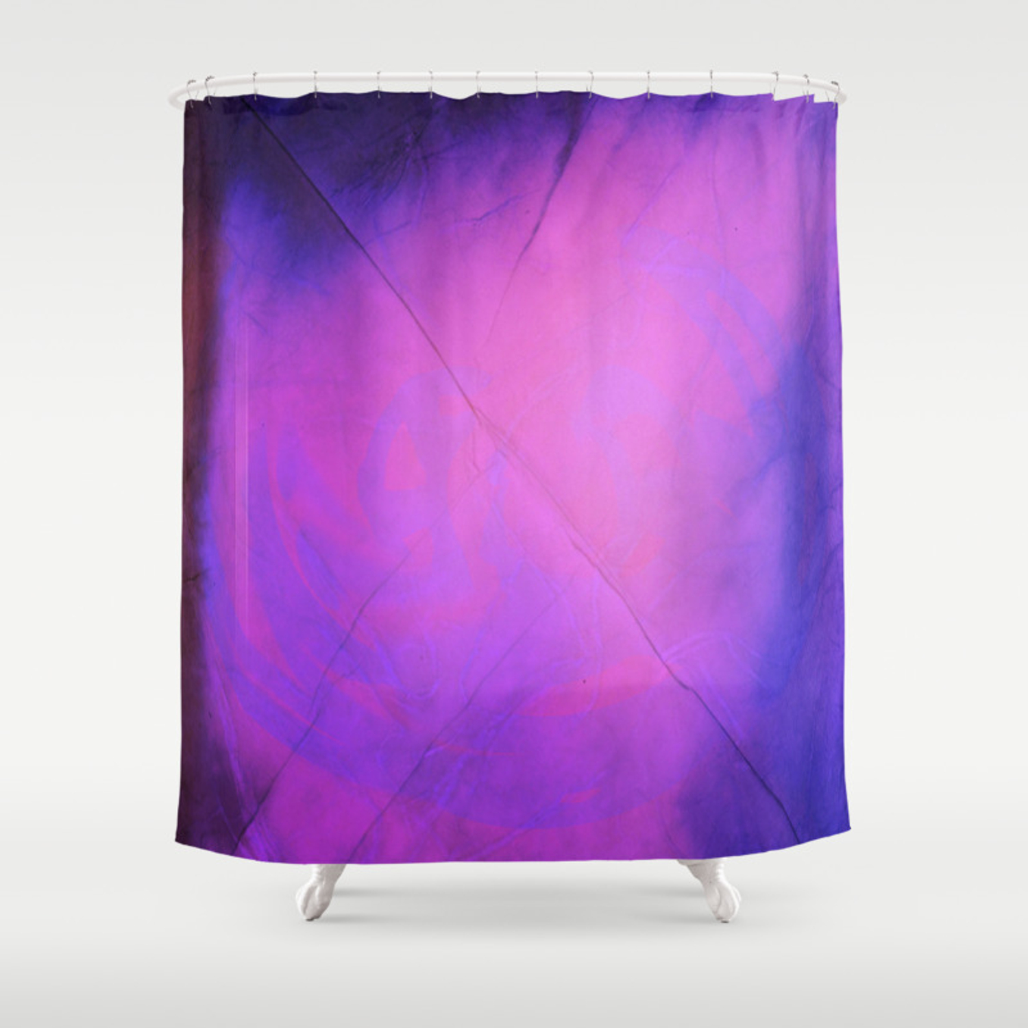 Watercolor Fabric Shower Curtain