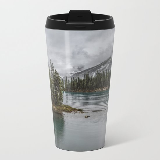 Landscape Maligne Lake Photography | Alberta | Canada Metal Travel Mug