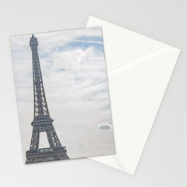 France Photography - The Eiffel Tower Under The White Clouds Stationery Cards