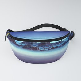 Group Of Sharp Pointy Rocks In Shallow Water Blue Tint Fanny Pack