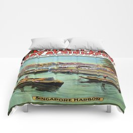 Vintage poster - Singapore Comforters