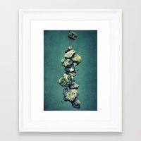 stone Framed Art Prints featuring stone by Claudia Drossert