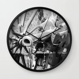 The cannon (black & white version) Wall Clock