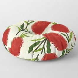Australian Bottlebrush Red Flowers Floor Pillow