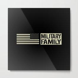 U.S. Military: Military Family (Black Flag) Metal Print