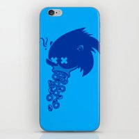 sonic iPhone & iPod Skins featuring Sonic by La Manette
