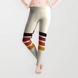 Retro Racing Stripes Leggings