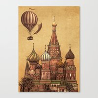 moscow Canvas Prints featuring Trip to Moscow by Terry Fan