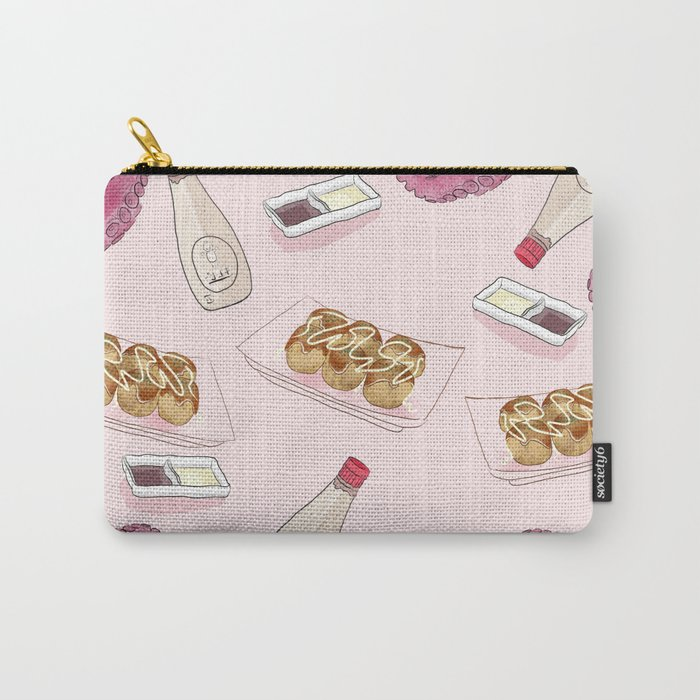 Takoyaki Pattern Carry-All Pouch