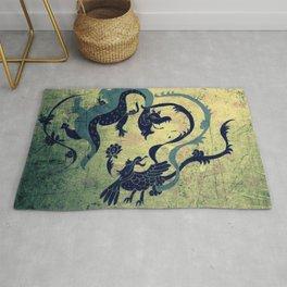 myth of dragon and the Phoenix Rug