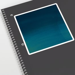 Navy blue teal hand painted watercolor paint ombre Sticker
