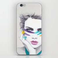 war iPhone & iPod Skins featuring War Paint Sally by Jenny Liz Rome