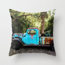 Broken and Blue Throw Pillow