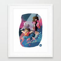 steven universe Framed Art Prints featuring Steven Universe by David Pavon