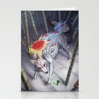 okami Stationery Cards featuring Okami by Caroline Roy