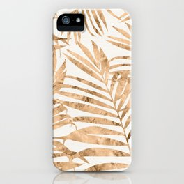 Gold Foil Palm Fronds iPhone Case