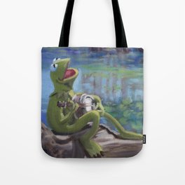 Banjo Playing Frog Tote Bag