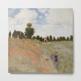 Claude Monet's Coquelicots: La Promenade Metal Print