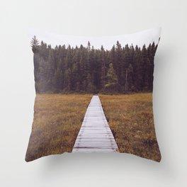 Fall Hiking Throw Pillow