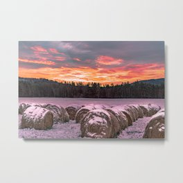 Vermont Winter Sunrise Metal Print