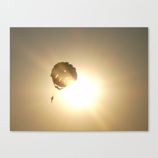 TOUCHING THE SKY ..... PARACHUTE Canvas Print