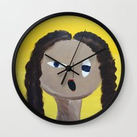 anonymous Wall Clocks featuring Anonymous by Sara Khaled
