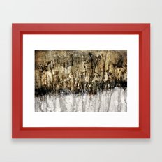 golden garden Framed Art Print