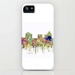 Greensboro, North Carolina Skyline - Faded Glory iPhone Case