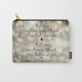 """""""I See the Light"""" by Mandy Moore and Zachary Levi from the movie """"Tangled"""" Carry-All Pouch"""