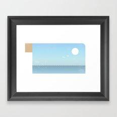 Choppy Waves Framed Art Print