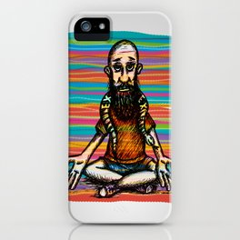 Bearded and ex poison snake iPhone Case
