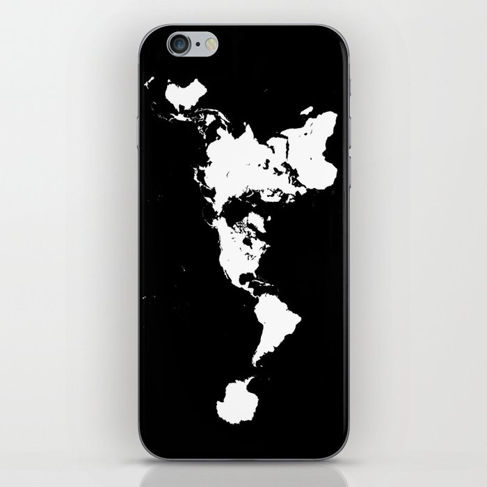 Dymaxion world map fuller projection map minimalist white on dymaxion world map fuller projection map minimalist white on black iphone skin gumiabroncs Images